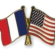 French and american flags